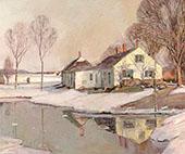 Evening Light in Winter By George Gardner Symons