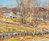 Farmstead and Stone Fence By George Gardner Symons
