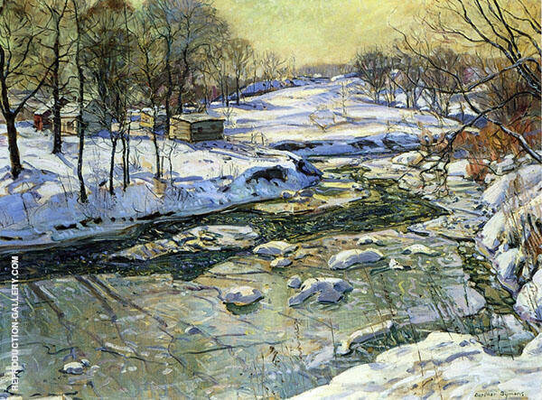 Four Mile Creek Painting By George Gardner Symons - Reproduction Gallery