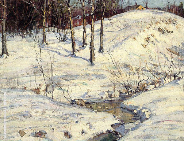 Hillside Shadows Painting By George Gardner Symons - Reproduction Gallery