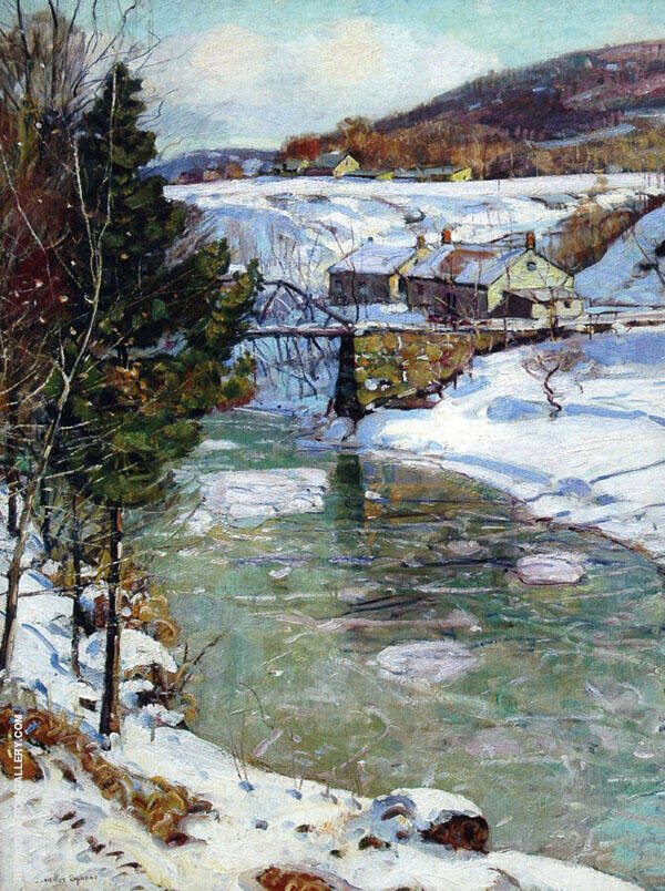 Icy Winter Painting By George Gardner Symons - Reproduction Gallery