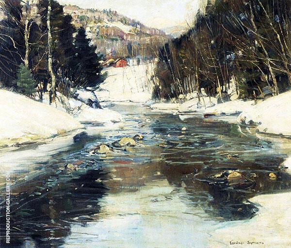 Near Springfield Massachusetts Painting By George Gardner Symons
