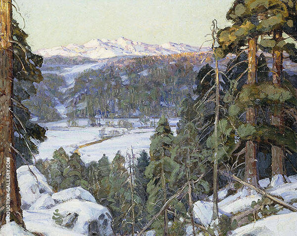 Pines in Winte By George Gardner Symons