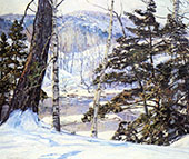 River Bank with Snow By George Gardner Symons