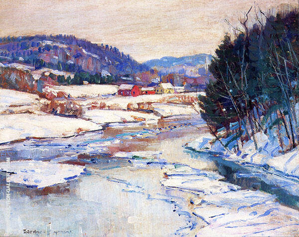 River in Winter By George Gardner Symons