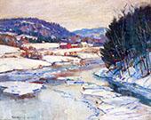 River in Winter By George Gardner Symons