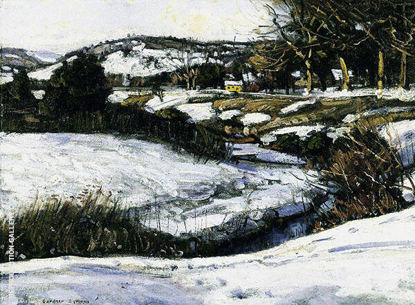 River Scene Winter By George Gardner Symons