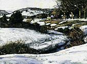 River Scene Winter By George Gardner Symons