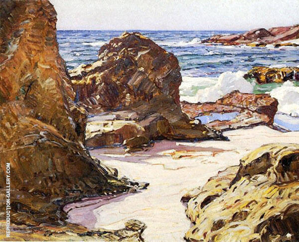 Rocks and Sea Painting By George Gardner Symons - Reproduction Gallery