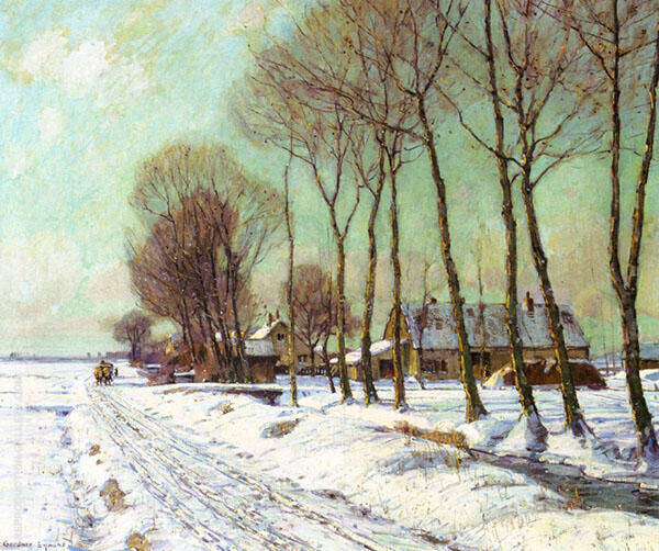 Snow Clad Fields in Morning Light By George Gardner Symons