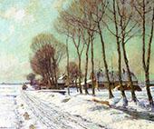 Snow Clad Fields in Morning Light By George Gardner Symons