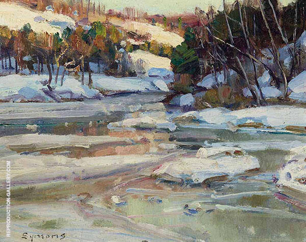 Snow on The Stream By George Gardner Symons