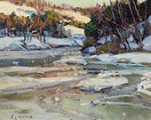 Snow on The Stream By George Gardner Symons