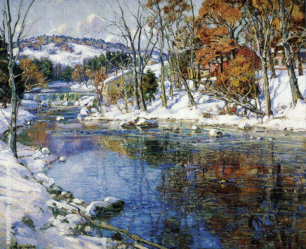 The First Snowfall By George Gardner Symons