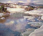 Valley Stream in Winter By George Gardner Symons