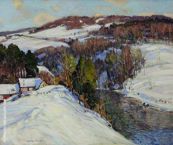 Winter Landscape Sunlit Hill c1925 By George Gardner Symons