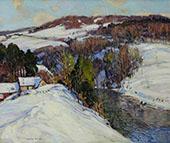 Winter Landscape Sunlit Hill c1925 By George Gardner Symons