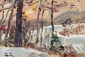 Winter Sunset By George Gardner Symons