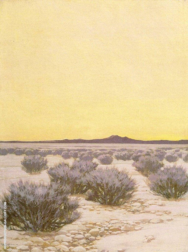 Afterglow in The Desert By Fernand Lungren