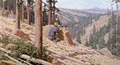 Bear Hunter By Fernand Lungren