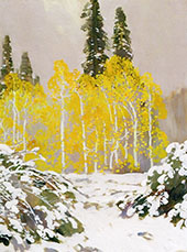 Aspens in The Snow By Fernand Lungren