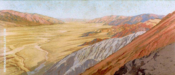 Death Valley Dantes View Painting By Fernand Lungren