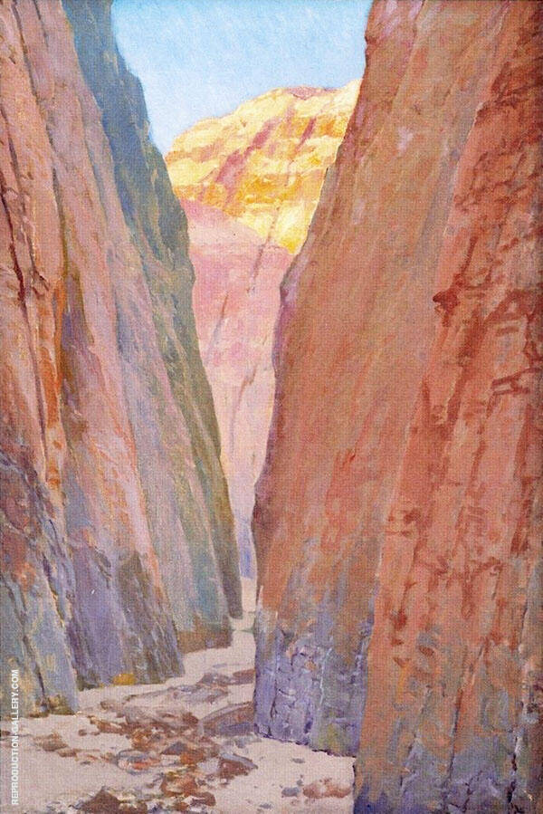 Desert Gorge Calico Painting By Fernand Lungren - Reproduction Gallery