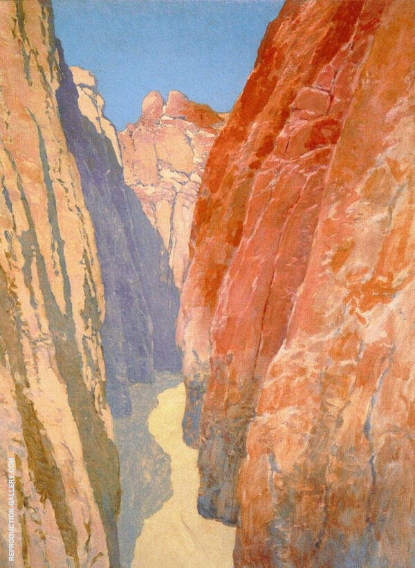 Desert Gorge Wall Street Canyon Painting By Fernand Lungren