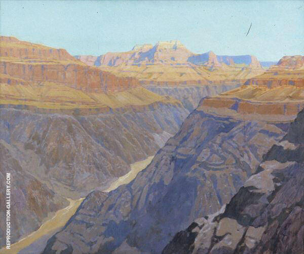 Grand Canyon 1910 Painting By Fernand Lungren - Reproduction Gallery