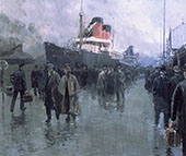 Liverpool also known as Docking a Liner By Fernand Lungren