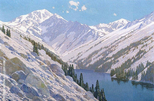 Mountain Lake High Sierra Painting By Fernand Lungren