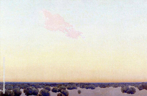 Pink Cloud Painting By Fernand Lungren - Reproduction Gallery