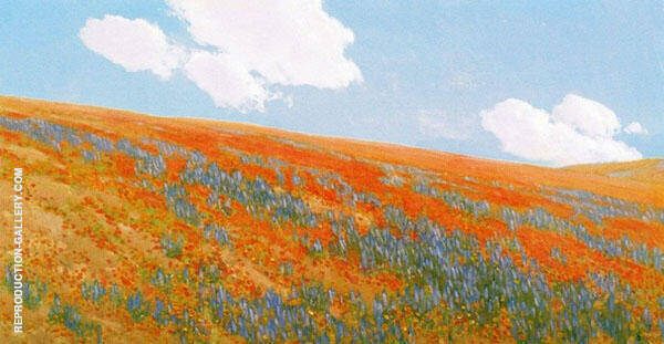 Poppies and Lupin By Fernand Lungren