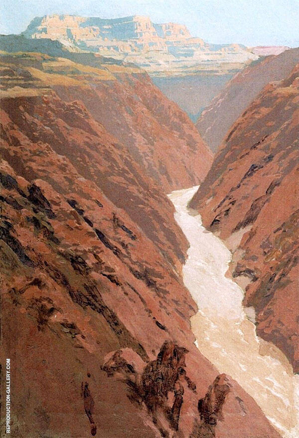 Silver River Painting By Fernand Lungren - Reproduction Gallery