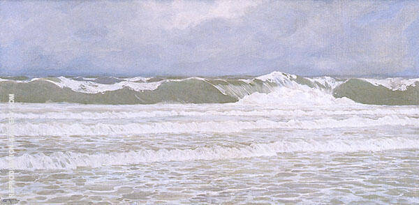 Surf after Storm Painting By Fernand Lungren - Reproduction Gallery