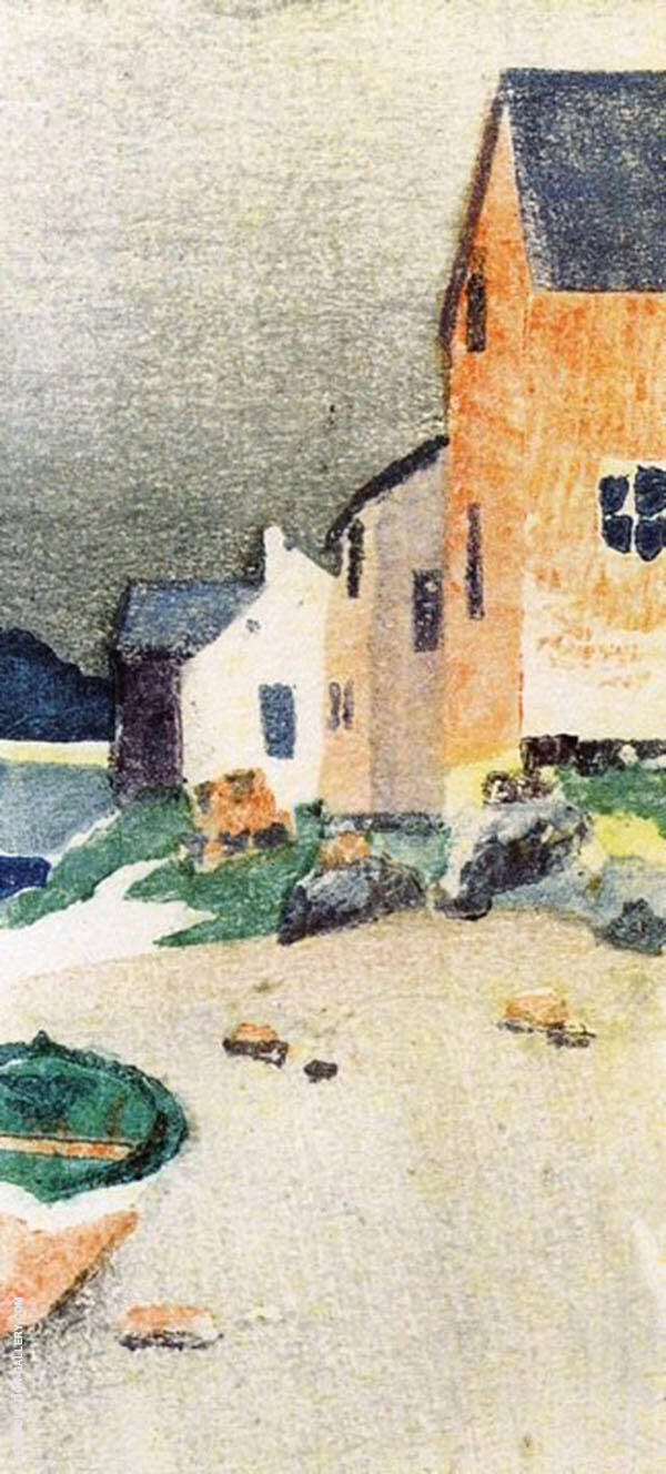 A Gray Day, Houses on a Beach 1895 By Arthur Wesley Dow