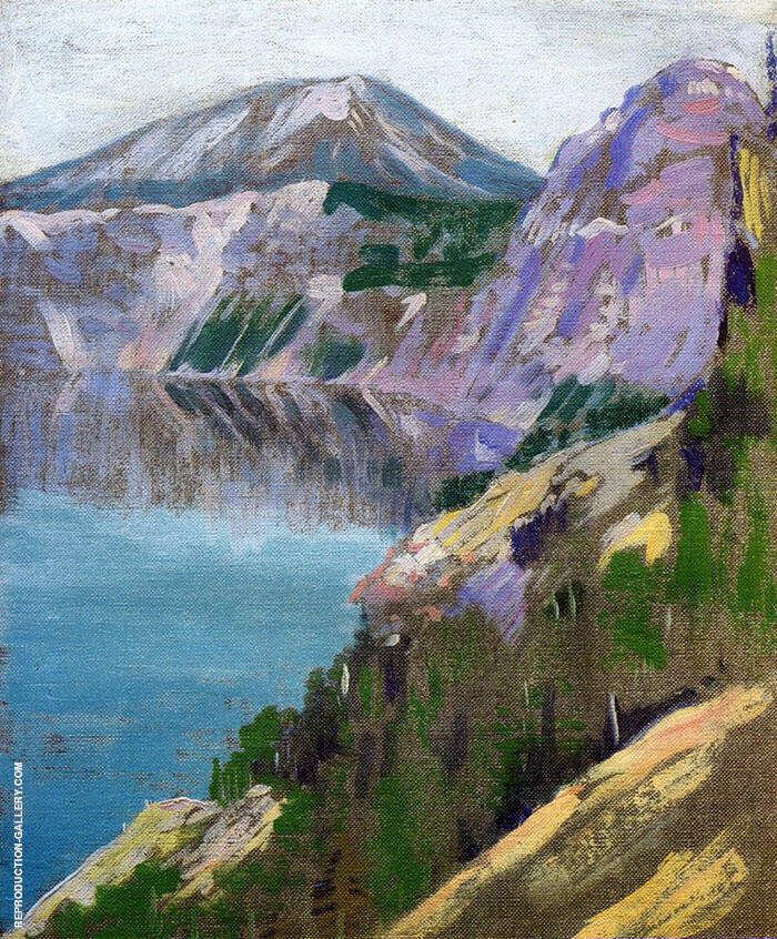 Crater Lake 1919 By Arthur Wesley Dow