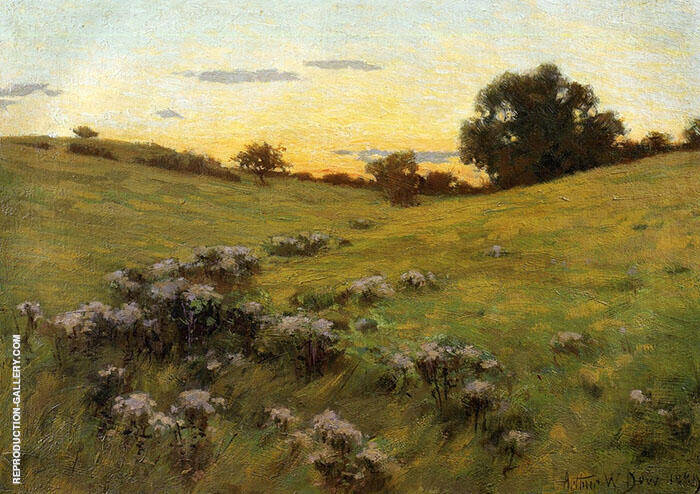 Flowering Field 1889 By Arthur Wesley Dow
