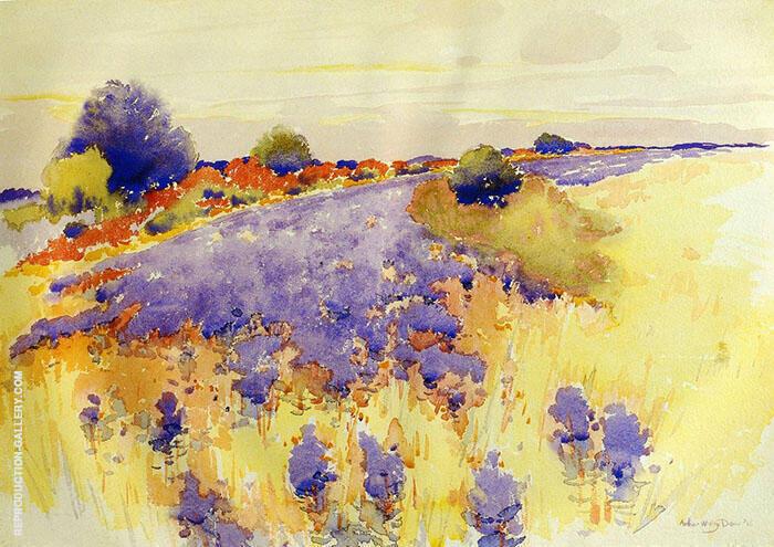 Flowering Field 1895 By Arthur Wesley Dow
