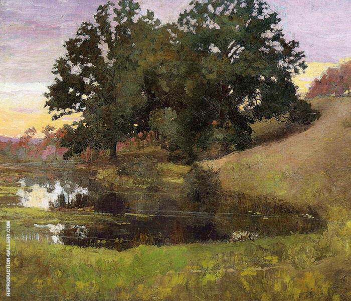 Hillside Pool 1900 By Arthur Wesley Dow