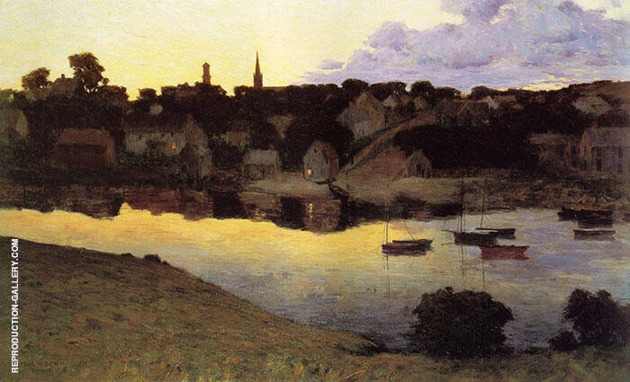 Ipswich at Dusk 1890 Painting By Arthur Wesley Dow - Reproduction Gallery