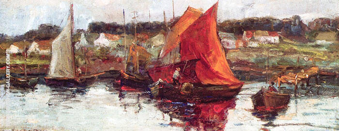 Ipswich Fishing Boats Painting By Arthur Wesley Dow - Reproduction Gallery