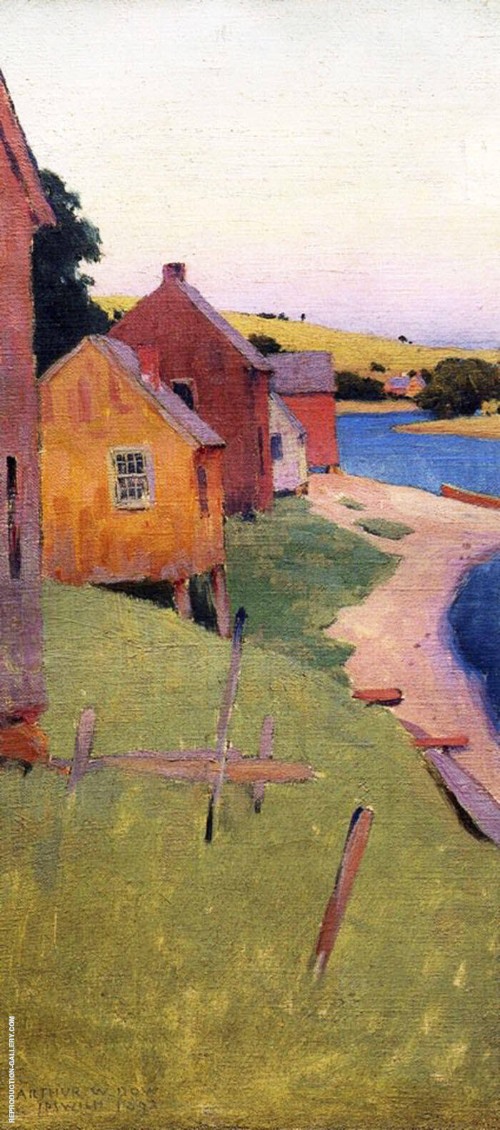 Ipswich Shanties 1892 Painting By Arthur Wesley Dow - Reproduction Gallery
