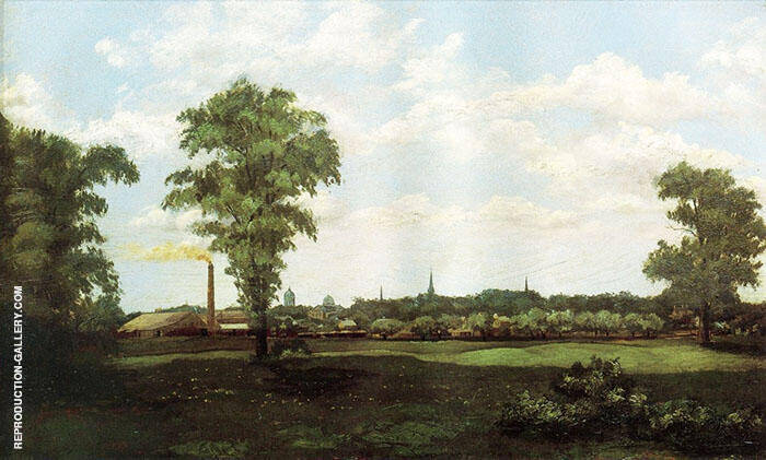 Landscape 1881 Painting By Arthur Wesley Dow - Reproduction Gallery