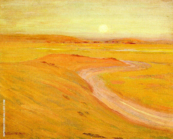 Moon over The Marshes Painting By Arthur Wesley Dow - Reproduction Gallery