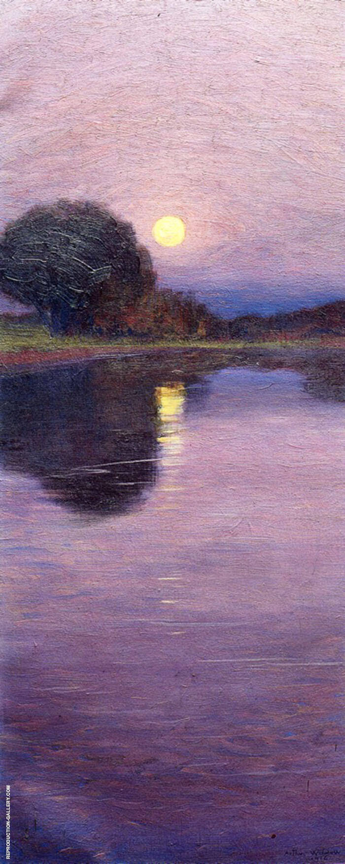 Moonrise 1916 Painting By Arthur Wesley Dow - Reproduction Gallery