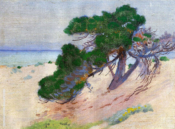 Pacific Grove California 1919 By Arthur Wesley Dow