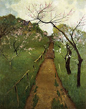 Spring Landscape with a Farmer and White Horse 1892 By Arthur Wesley Dow