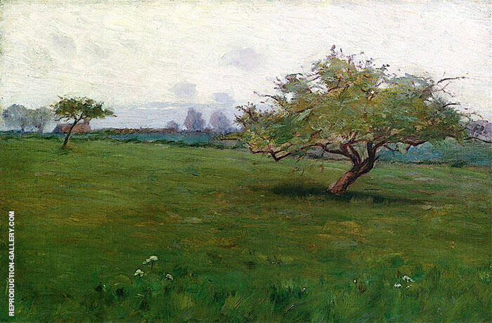 Study for a Field Kerlaouen Painting By Arthur Wesley Dow