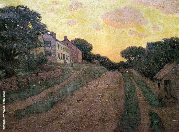 Summer Street 1890 Painting By Arthur Wesley Dow - Reproduction Gallery